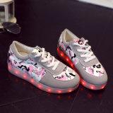 USB ботинок детей СИД светлый поручая светлые цветастые ботинки танцульки лета и светлые ботинки танцы