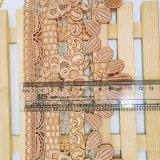 Merletto chimico del commercio all'ingrosso 11cm della fabbrica di larghezza del ricamo del merletto del poliestere del ricamo di immaginazione di nylon di riserva della guarnizione per l'accessorio degli indumenti & i &Curtains domestici delle tessile