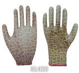 перчатка PU нейлона полиэфира 13G Coated