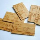 Tallado de impresión láser /Ecológica de bambú y hermosa Tarjeta de visita