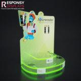 Pop acrílico coloreado Contador de soporte de productos de cuidado de Aceite Esencial de Rack de pantalla