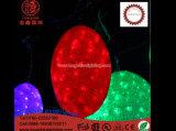 Luz pendiente de la decoración de la Navidad de la lámpara del adorno del apretón del pegamento de la bola del LED Gaint