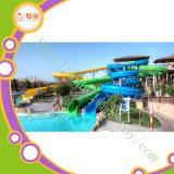 Используемый парк Aqua Toboggan скольжения воды Equipmentgiant парка воды