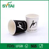 Kundenspezifische Entwurfs-PET beschichtete gedruckte Firmenzeichen-einzelne Wand-Papier-Kaffeetasse