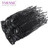 Yvonne 7 piezas 18/Set brasileño Kinky Curly Clip Clip extensiones de cabello humano.