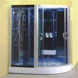 Design de banheiro Corner Frame Sliding Grey Glass Shower Cabin 90