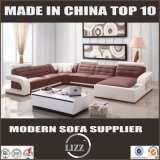 Best-Selling Popular Modern Design Living Room Sofá de couro