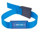 RFID 시계 꼬리표, RFID 소맷동 팔찌, 조정가능한 결박 꼬리표