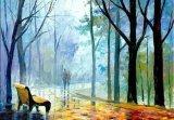 ハンドメイドの装飾の概要の絵画森林(tj061)