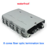 Plastic 8 Port Telecom Waterproof Fiber Optic Termination Box