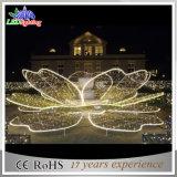 Motiv-Blumen-im Freienstraßen-Dekoration-Lotos-Lichter des Feiertags-LED 3D