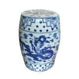 파랑과 White Porcelain Stool (LS-25)