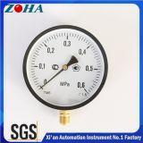 """Medidores comerciais da pressão do caso de aço do preto da conexão radial com pressão diâmetro da linha 0.6MPa o 1/2 """" 4 polegadas 6 polegadas"""