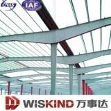 Construção de estrutura de aço acabados Telheiro /a construção do prédio