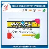 Biglietto da visita personalizzato laminato trasparente della plastica di stampa di disegno di stampa in offset