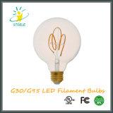 Stile della lampadina del filamento di G30/G95 5W Dimmable LED retro