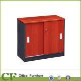 Armário de armazenamento do escritório económica Porta de vidro com estrutura de madeira fichários
