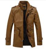 Rivestimento lungo/cappotto degli uomini di cuoio dell'unità di elaborazione di modo