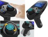 Trasmettitore multifunzionale del kit FM dell'automobile di Bluetooth con la visualizzazione di LED Riga-in ed il trasmettitore Port doppio del USB FM
