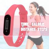 Nuevo pulsera de silicona resistente al agua Contador de calorías caminando W2 USB podómetro