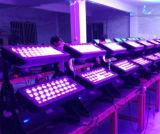 72/96*18W Rgbwauv 6in1多色刷りLEDの壁の洗濯機ライト