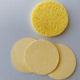 Custom напечатано круглый желтый сжатый целлюлозы блендер насадка для макияжа губка