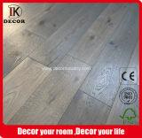 Cera de color gris ahumado todo aceitado tablones de madera Pisos de ingeniería