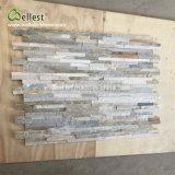 Jaune carreaux de marbre du bois de placage de pierres empilées Ledge Stone pour revêtement de mur extérieur