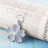 Vintage Antique Silver Handmade martelé Collier pendentif fleur
