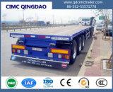 Cimc Tri-Axle 50tonne 40pieds à plat la paroi latérale de lit Cargo semi-remorque de camion pour la vente