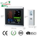 Station météo sans fil Thermomètre Hygromètre baromètre avec réveil atomique
