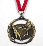 Placage or antique en 3D médaille avec découpes - Tour de cou Multipal inclus / Wholesale