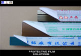 Film protecteur blanc laiteux de profil de guichet en aluminium