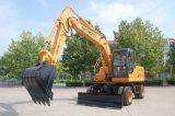 Excavador de la rueda de 13 toneladas con el soporte