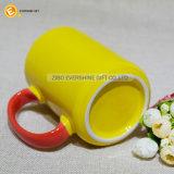 Двойной цвет керамические кружки кофе
