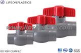 Válvula de bola de industriales de CPVC PVC DN30