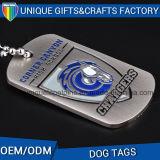 O logotipo personalizado de Impressão Colorida esmalte macio Tag de cão de metal para a Loja Dom