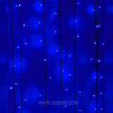 LED暖かく白く装飾的なストリングカーテンライト