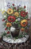 Handgemachte schwere Ölgemälde-Blumen angestrichen von Pellete Knife