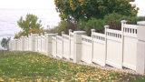 La vie privée piquet de clôture de jardin avec le haut