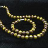 도매 형식 보석은 보석, 구슬 대중적인 숙녀 목걸이 모형, 다색 구슬 목걸이를 구슬로 장식한다