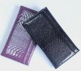 Новый дизайн мода пользовательские провод фиолетового цвета кожи леди кошелек