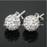 Shamballa bolas de plata inoxidable Espárrago en el oído de color blanco Accesorios de moda la moda de Joyería de pendientes Joyería de pendientes pendientes Classicality Traje (PE-040)