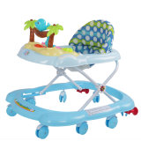 A fonte da fábrica do brinquedo encalha diretamente o caminhante da sensação para o bebê