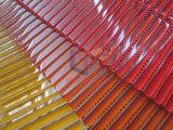 明るいオレンジストリップのガラスモザイク・タイル(PT106)