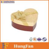 Коробка типа сердца подарка кольца ожерелья вахты ювелирных изделий упаковывая с тесемкой