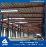 Edificio de la estructura de acero de la luz de la buena calidad con la viga de H en la fábrica para el almacén