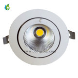 50W ajustable Gimble LED Downlight con el Temp. blanco fresco blanco puro blanco caliente del color