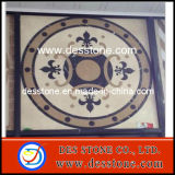Mosaico de mármol de chorro de agua cuadrado Meddllion patrón (DES-MDL07)