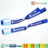Le codage URL NTAG213 NFC tissu tissé coloré personnalisé bracelet RFID pour la promotion de l'événement